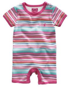 Joules Baby Girls Romper Suit, Multi Mix.                     A babygrow made with the spring and summer months in mind. Designed to offer warmth and comfort, yet at the same time allow small arms and legs the chance to embrace the fresh air. The poppers make it easy to put on and take off.