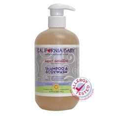 Shampoo e sabonete para bebês em versão econômica, dura 4 meses . Não contém ingredientes tóxicos, e não irrita os olhos, é indicado para peles extra sensível. Vende online, WholeFoods Market, lojas infantis dos EUA. Preço Médio: US$ 20. #cosmeticdetox