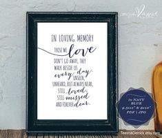 This printable is the most perfect way to honour our loved ones who have passed away. Framed it and placed it next to a memorial remembrance candle at your wedding or a baptism, or display this at your wall as a loving remembrance and reminder. Memory Table, Wedding Places, Wedding Stuff, Wedding Ideas, Wedding Planning, New Things To Try, Wedding Memorial, In Loving Memory, Wedding Thank You Cards