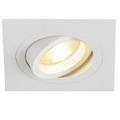 Podtynkowa LAMPA sufitowa NEW TRIA GU10 1 SQUARE 113511 Spotline biały