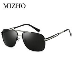 13fb4060a2c0 MIZHO Fashion Celebrity Retro Cool Brand Clear Sunglasses Polarized Men Blue  Lens Original Male Shield Sun