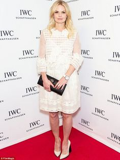 Wonder in white: Jennifer Morrison showed her style in a white dress featuring plenty of s...