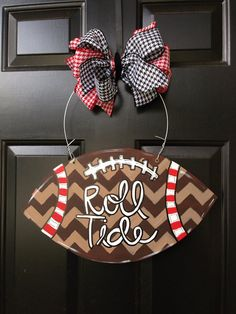 Chevron football door hanger university of Alabama by SwankySouth, $45.00