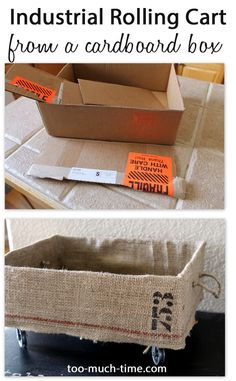 Recycle a cardboard box into an industrial rolling cart from Too Much Time on My Hands 1 copy