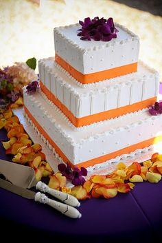 purple and orange wedding