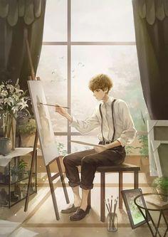 images for anime art M Anime, Anime Boys, Pretty Art, Cute Art, Aesthetic Art, Aesthetic Anime, Graphisches Design, Handsome Anime, Manga Boy