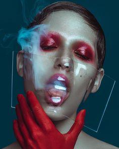 """""""'Blood' for @bullettmagazine // Photography @elenajasic // MUA @elizadavilamua // Model @clara_rae // designer @couturemask // #bullettmagazine…"""""""