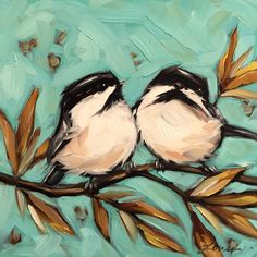 A personal favorite from my Etsy shop https://www.etsy.com/listing/271591745/chickadee-painting-original-oil-painting