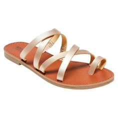 Women's Lina Slide Sandals - Gold 7.5