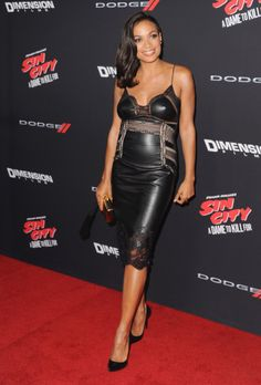Actress Rosario Dawson arrives at the Los Angeles Premiere 'Sin City A Dame To Kill For' at TCL Chinese Theatre on August 19 2014 in Hollywood...