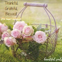 The more thankful you are, the more grateful you will feel and then more blessings come your way! Its that simply! #thankful, #grateful,  #blessed, #simplyasthat  ... more like this at  http://beautisouls.blogspot.gr/