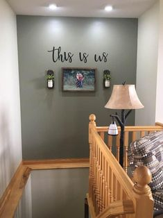 This is us Sign Metal this is us Sign Rustic Word Art Sign Farmhouse Decor This is us Stairway Decorating Art Decor Farmhouse Metal Rustic Sign word Decorating Stairway Walls, Staircase Wall Decor, Stair Decor, Staircase Design, Stair Landing Decor, Ideas For Stairway Walls, Small Hallway Decorating, Hallway Wall Decor, Decorating Ideas