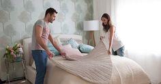 łóżka, łóżko, łóżka tapicerowane, sypialnia, łóżko dla dwojga, przytulna sypialnia, komfortowo  http://abcsypialni.pl/blog/lozka-tapicerowane/