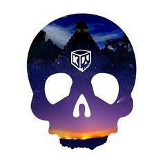 Landskull mayan night (by Crane, Skull, Sugar, Night, Fictional Characters, Art, Art Background, Kunst, Performing Arts