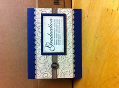 Stampin up Graduation card.