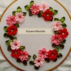 Wonderful Ribbon Embroidery Flowers by Hand Ideas. Enchanting Ribbon Embroidery Flowers by Hand Ideas. Ribbon Embroidery Tutorial, Ribbon Flower Tutorial, Hand Embroidery Stitches, Silk Ribbon Embroidery, Hand Embroidery Designs, Embroidery Applique, Cross Stitch Embroidery, Embroidery Techniques, Embroidery Patterns