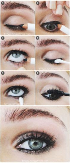 Apply khol liner all around the eye, in the waterline and smudge with a cotton bud -Sugarscape.com