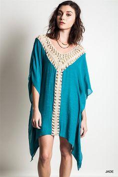 Crochet Caftan - Jade - Pre Order