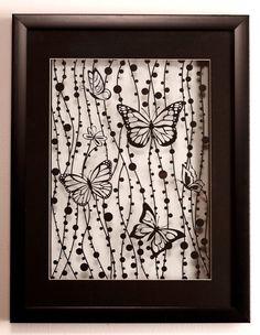 Paper art silhouette -butterfly