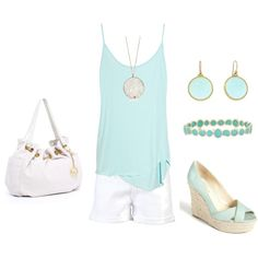 My first polyvore outfit with my favorite colors!!!