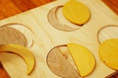 Wooden Moon Phases Puzzle