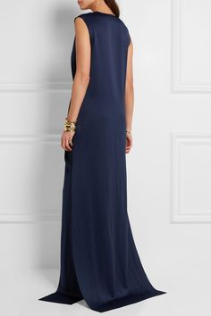 Solace London - Erica wrap-effect satin gown