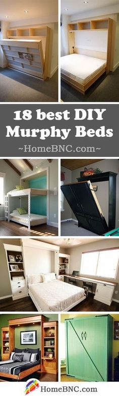 Welcome to Ideas of DIY Murphy Bed Projects article. In this post, you'll enjoy a picture of DIY Murphy Bed Projects design . Bedroom Storage, Bedroom Decor, Bedroom Night, Bedroom Ideas, Wall Storage, Ikea Bedroom, Murphy-bett Ikea, Murphy Bed Plans, Murphy Beds