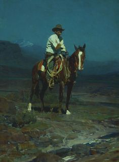 "FRANK TENNEY JOHNSON   Frank Ellis of the SMS    Oil on Canvas     24"" x 18"""