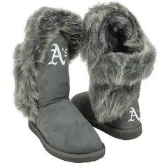 Cuce Shoes Oakland Athletics Ladies Fanatic II Boots - Gray