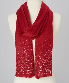 Take a look at this Red Sparkle Scarf by Rapti on #zulily today!