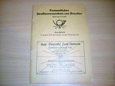 Postamtliches Straßenverzeichnis von Dresden 1961 Deutsche POST ab 1 EURO