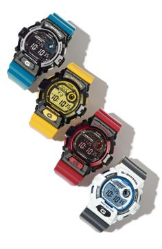 Primary color watches.