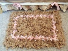 Shaggy rag rug