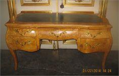 Burl Antique French Bureau Plat $3,600.00