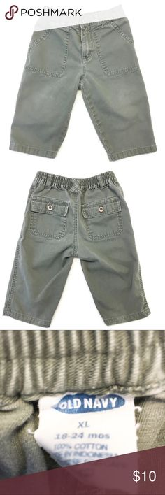 Old Navy relaxed utility pants GUC Old Navy relaxed utility pants in sage green. Size XL 18-24 months. Normal fading from washing. Old Navy Bottoms Casual