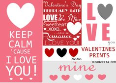 Free Valentine's Printables...these are some really cute one's!