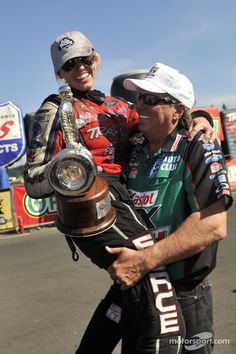old john force photos   Courtney Force and John Force