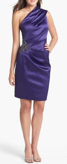 Beautiful, One Shoulder Satin Dress