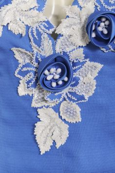 Applique embroidery on a Givenchy Numbered Haute Couture gown.
