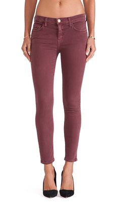 Taylor Swift Style - Burgundy Skinny Jeans from #Current/Elliot #getthelook