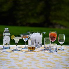 Unbreakable Polycarbonate Drinkware  $8.99. Use them for pool parties or while you're tailgating.