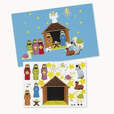 Check this out on our store  Make A Nativity Sticker Sets (1 dozen) Check it out here! [product-url