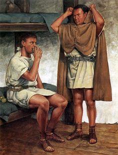 """Praetorian guardsmen, off duty; early 1st C. AD"", Richard Hook"