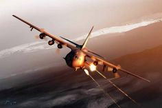 The Lockheed gunship is a heavily armed ground-attack aircraft variant of the Hercules transport plane. The basic airframe is manufactured by Lockheed while Boeing is responsible for the conversion into a gunship and aircraft support. Military Jets, Military Life, Military Aircraft, Iraqi Military, Military Humor, C130 Hercules, Ac 130, Close Air Support, Photos Of The Week