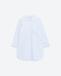 Image 8 of OVERSIZED POPLIN SHIRT from Zara