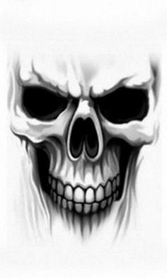 Skull wallpaper by __KoniG__ Skull Tattoo Design, Skull Design, Skull Tattoos, Body Art Tattoos, Cool Tattoos, Tattoo Designs, Tattoo Caveira, Skull Stencil, Sugar Skull Tattoos