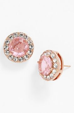 kate spade new york 'basket pavé' stud earrings Pink Jewelry, Cute Jewelry, Jewelry Box, Jewelry Watches, Jewlery, Other Accessories, Jewelry Accessories, Fashion Accessories, The Bling Ring