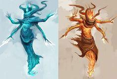 Djinn Monster from Guild Wars Nightfall