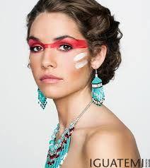 die 10 besten bilder von indianer schminken tribal makeup fantasy makeup und indian costumes. Black Bedroom Furniture Sets. Home Design Ideas