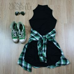 Cómo combinar un vestido negro - Outfit vestido negro Cómo combinar un vestido negro - Outfit vestido negro Tumblr Outfits, Hipster Outfits, Cute Casual Outfits, Grunge Outfits, Boho Outfits, Stylish Outfits, Girl Outfits, Tumblr Clothes, Girls Fashion Clothes